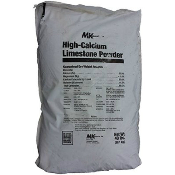 MK Minerals 54821 High-Calcium Limestone Powder, 40 Lbs