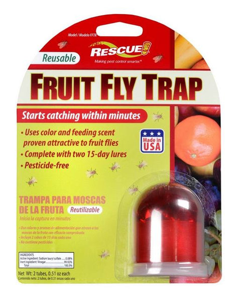 Rescue!® FFTR-SF6 Fruit Fly Trap with 30 Day Attractant
