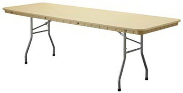 "PRE Sales 3635 Rhino Lite Table, 8' x 30"", Dark Brown, Polyethylene Resin"