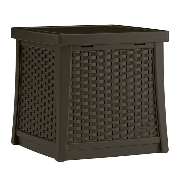 Suncast® BMBD1300 Wicker Look Resin Deck Box, 13 Gallon Capacity, Resin