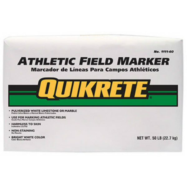 Quikrete® 1111-60 Athletic Field Marker, 50 Lbs, White