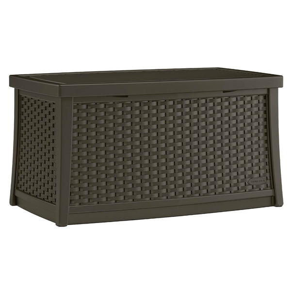 Suncast® BMBD3000 Wicker Look Resin Deck Box with Storage, 30 Gallon