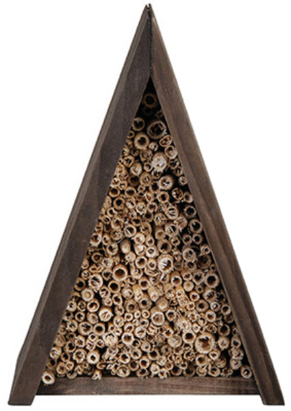 "Esschert Design WA19 A-Frame Bee House with Bamboo Shoots, 5.6"" x 4.5"" x 7.9"""