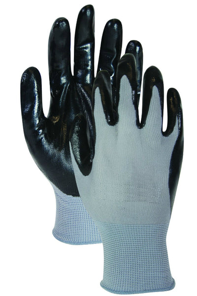 HandMaster® T319TM Ultra Grip Nitrile Coated Palm Men's Glove, Black/Gray, Medium
