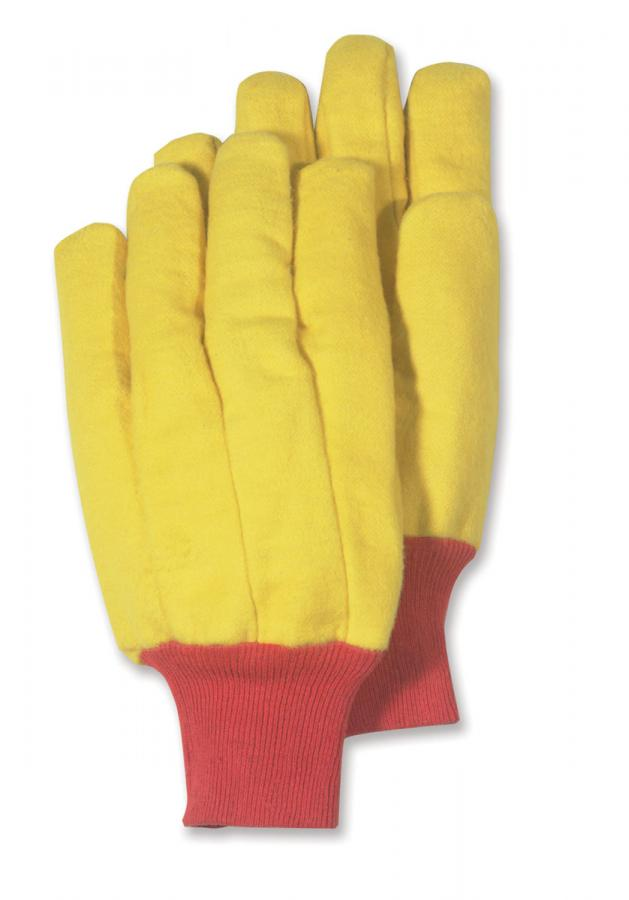 HandMaster® 565KWT12 Heavy-Napped Gold Fleece Men's Chore Gloves, Large, 12-Pk