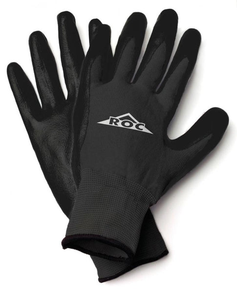 HandMaster® ROC20TL Roc® Polyurethane Coated Palm Men's Glove, Black, Large