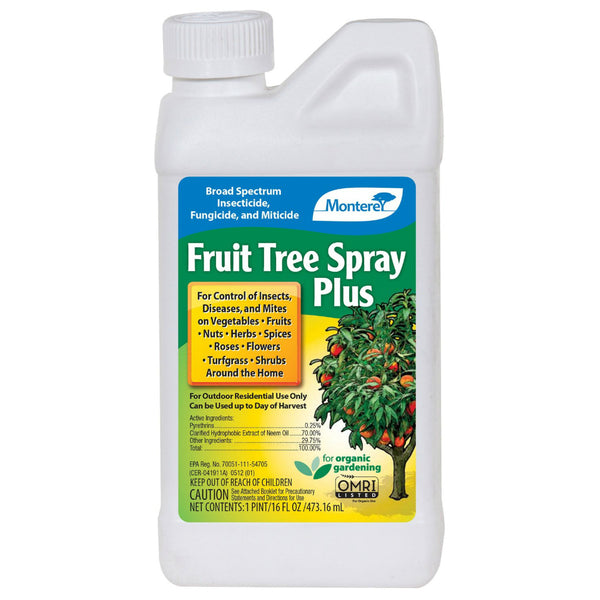 Monterey LG6184 Organic Fruit Tree Spray Plus Concentrate, 1 Pt