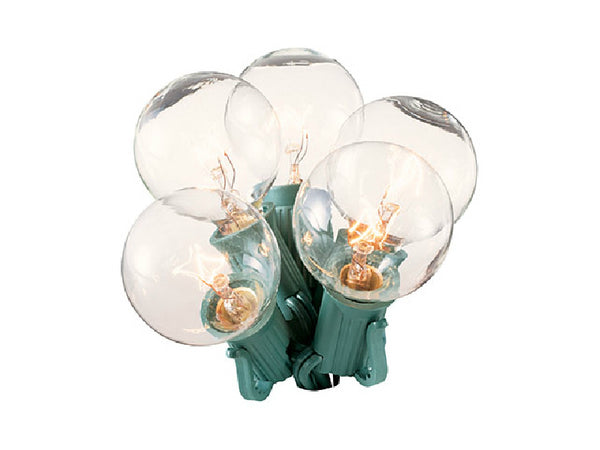 Holiday Wonderland® 1059-88 Christmas Clear G40 Globe Replacement Bulb, 2-Pack