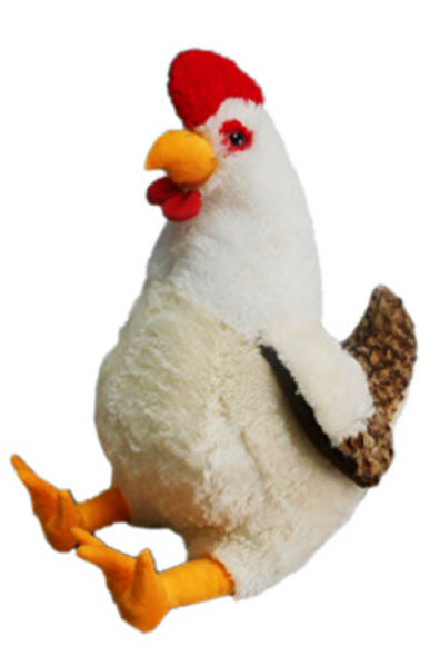 Hugfun 221883 Chicken Plush Toy, 20""