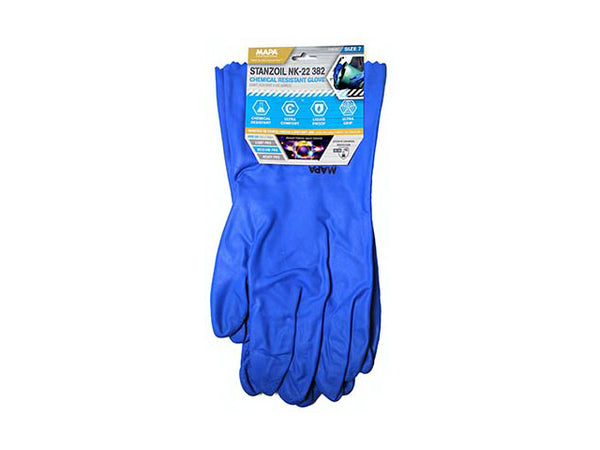 MAPA GLNK2207 Stanzoil 382 Chemical Resistant Glove, Size 7
