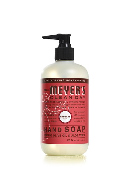 Mrs. Meyer's Clean Day 17462 Liquid Hand Soap, 12.5 Oz, Rhubarb Scent