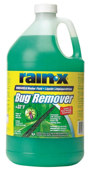Rain‑X® RX68806 Bug Remover Windshield Washer Fluid, 1-Gallon, +32 Degrees