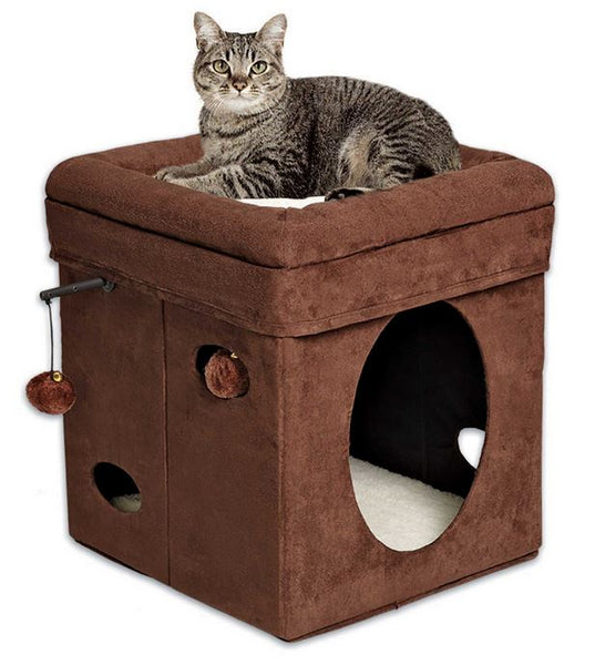 "MidWest® 137-BR Feline Nuvo™ Curious Cat Cube House, 15.5"" x 15.5"""