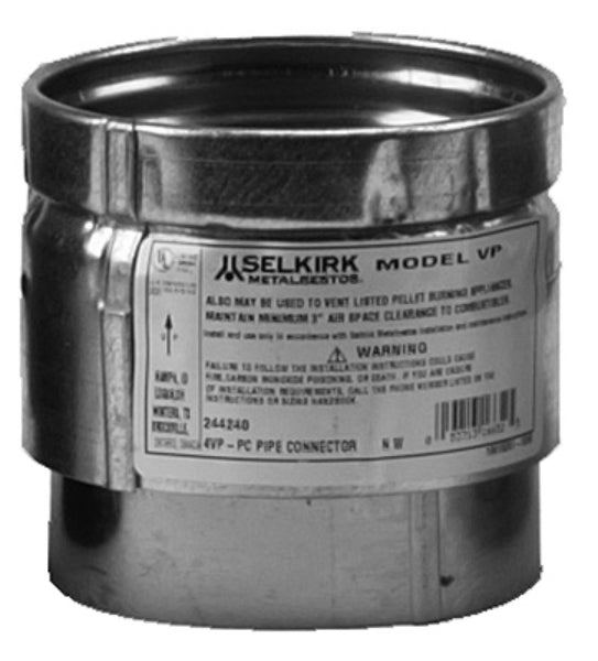 Selkirk 243241 Multi Fit 3VP-MFC Pellet Pipe Connector, 3""