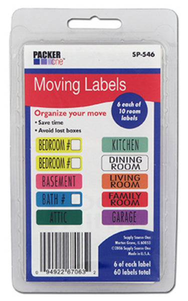 Packer One SP-546 Moving Labels, 60-Count