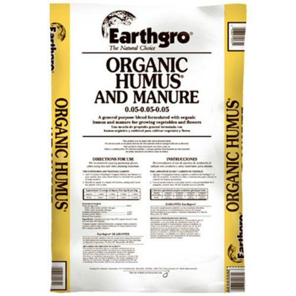 Earthgro® 71440180 The Natural Choice Organic Humus & Manure, 40 lbs