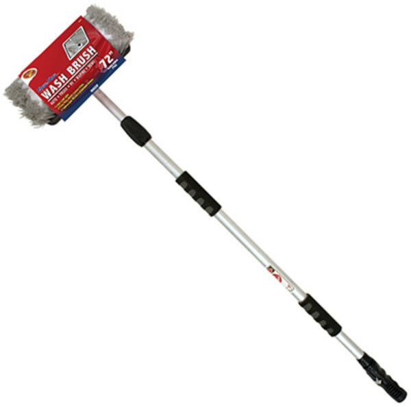"Detailer's Choice 4B3608 Tri-Level Flow-Thru Wash Brush w/72"" Handle, 10"" Head"