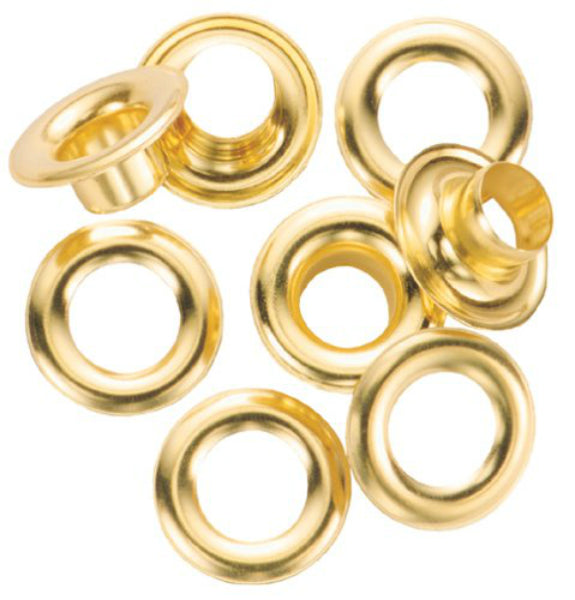 General Tools 1261-0 Grommet Refill with 24 Brass Grommets, 1/4""