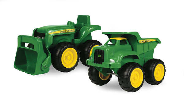 "John Deere 35874 Truck & Tractor Sandbox Vehicle Child Toy Set, 6"", 2-Pack"