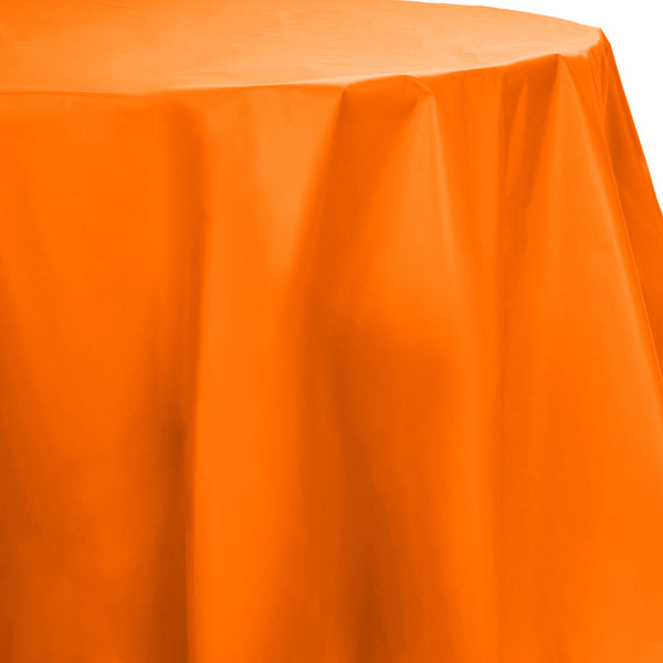 Creative Converting 703282 Octy-Round Plastic Table Cover, Sunkissed Orange, 82""