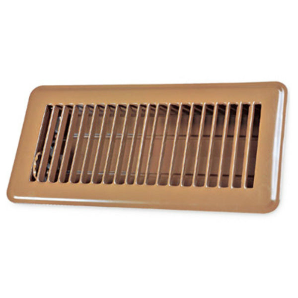 "AmeriFlow® 413B2X14 Steel Floor Register, Brown, 2"" x 14"""