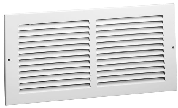 "AmeriFlow® 372W12X6 Steel Return Air Grille, 1/2"" Fin Spacing, White, 12"" x 6"""