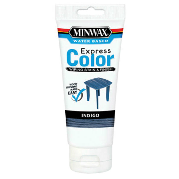 Minwax® 308070000 Water Based Express Color™ Wiping Stain & Finish, 6 Oz, Indigo