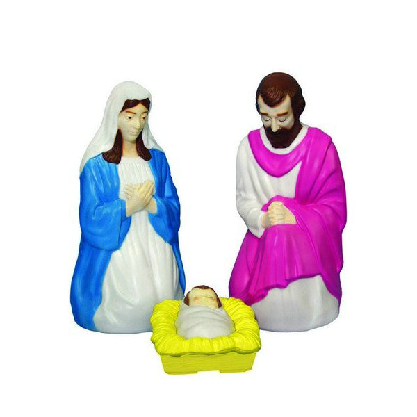 "General Foam C3680TS Lighted Christmas Holy Family Nativity Set, 28"", 3-Piece"