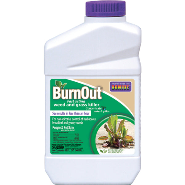 Bonide® 7464 Concentrate BurnOut® Fast Acting Weed & Grass Killer, 1 Qt