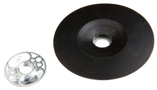 "Forney 72321 Backing Pad with Spindle Nut, 4-1/2"" x 5/8-11"