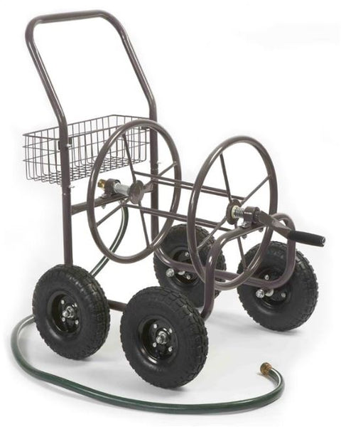 Liberty Garden 871-S Four Wheel Hose Reel Cart, 13 Gauge Steel Construction