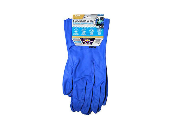 MAPA GLNK2210 Stanzoil 382 Chemical Resistant Gloves, Size 10, Superior Comfort