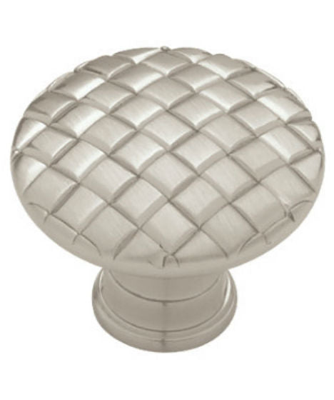 "Liberty PN0416-SN-C Basket Weave Cabinet Hardware Knob, 1-1/8"", Satin Nickel"
