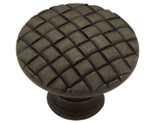 "Liberty PN0416-OB-C Basket Weave Cabinet Knob, 1-1/8"", Distressed Oil Rubbed Bronze"