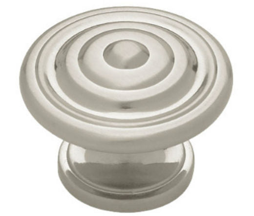 "Liberty Hardware PN0407-SN-C Concentric Round Knob, 1-3/8"", Satin Nickel"