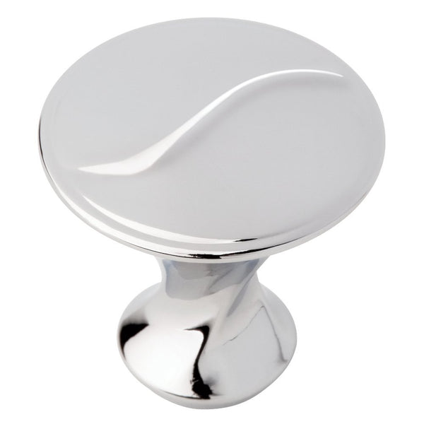 Liberty P18006C-PC-C Vuelo Zinc Die Cast Cabinet Knob, Polished Chrome, 1-1/8""