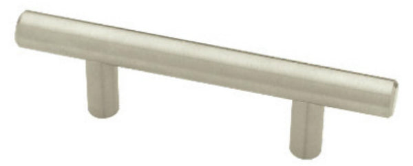 "Liberty Hardware P02164-SS-C Flat End Bar Pull, 2-1/2"", Stainless Steel"