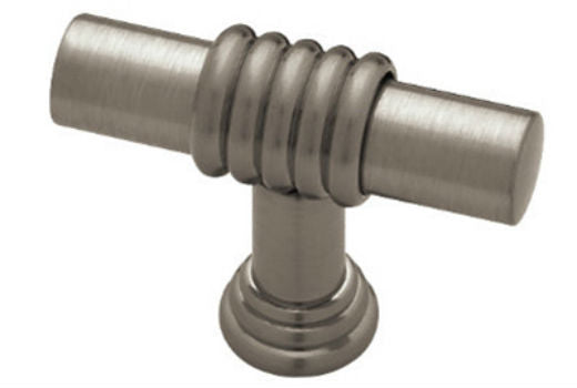 "Liberty PN1040H-BNP-C Brass Ringed Bar Knob, 1-5/8"", Brushed Nickel Plate"