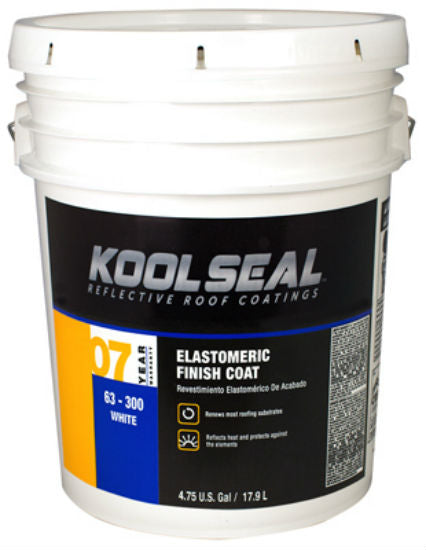 Kool Seal® KS0063300-20 Elastomeric Reflective Roof Coating, 4.75 Gallon, White