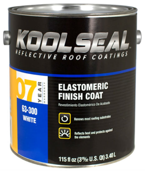 Kool Seal® KS0063300-16 Elastomeric Roof Coating, White, 0.9 Gallon