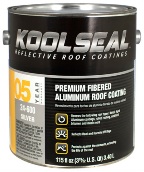 Kool Seal® KS0024600-16 Fibered Aluminum Roof Coating, 1 Gallon