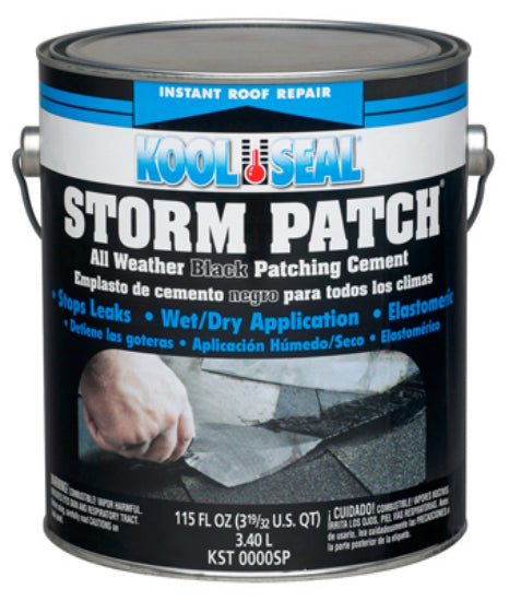Kool Seal® KS0083300-16 Storm Patch & Seal Black Patching Cement, 0.9 Gallon