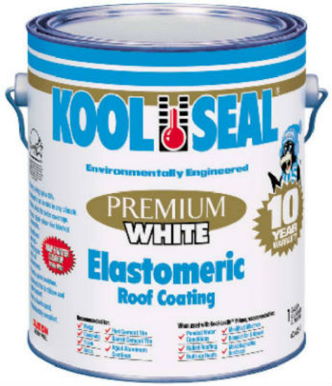Kool Seal® KS0063600-16 Premium White Elastomeric Roof Coating, 0.9 Gallon