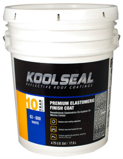 Kool Seal® KS0063600-20 Premium White Elastomeric Roof Coating, 4.75 Gallon