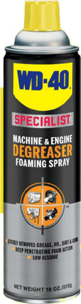 WD-40® 300070 Specialist® Machine & Engine Degreaser Foaming Spray, 18 Oz