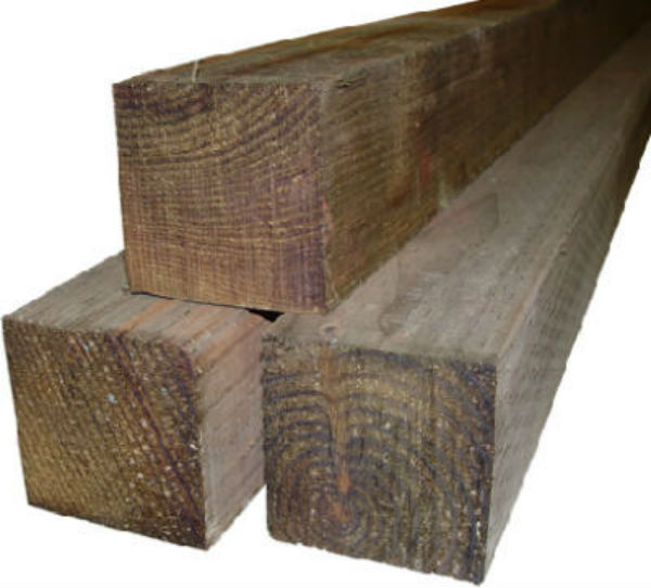 "Alexandria Moulding 104X4-WS096CT Treated Southern Pine Post, 4"" x 4"" x 8'"