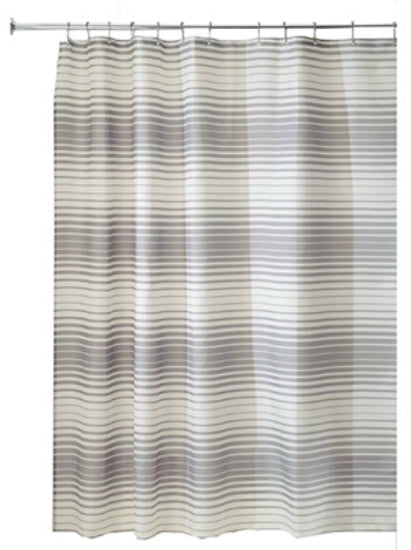 "Interdesign 35523 Enzo Fabric Shower Curtain, 72"" x 72"""