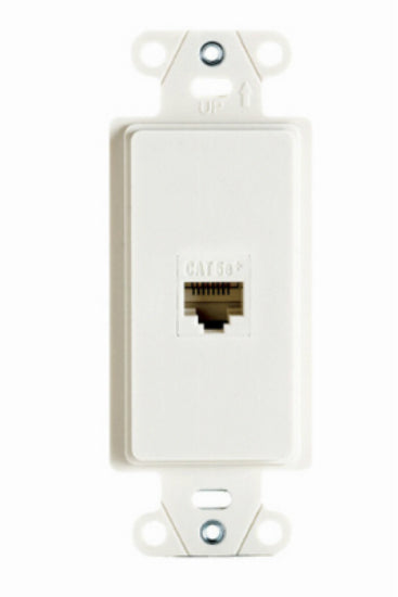 On-Q WP3210WHV1 Pre-Configured 1 Port Strap Wall Jack, White