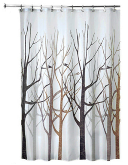 "Interdesign 45020 Forest Fabric Shower Curtain, 72"" x 72"""