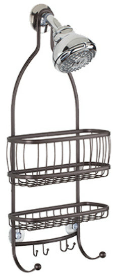 Interdesign 61971 York Lyra  Shower Caddy, Bronze, Classic American Style